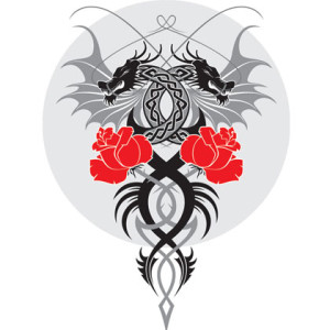 dragon-and-the-rose-vector