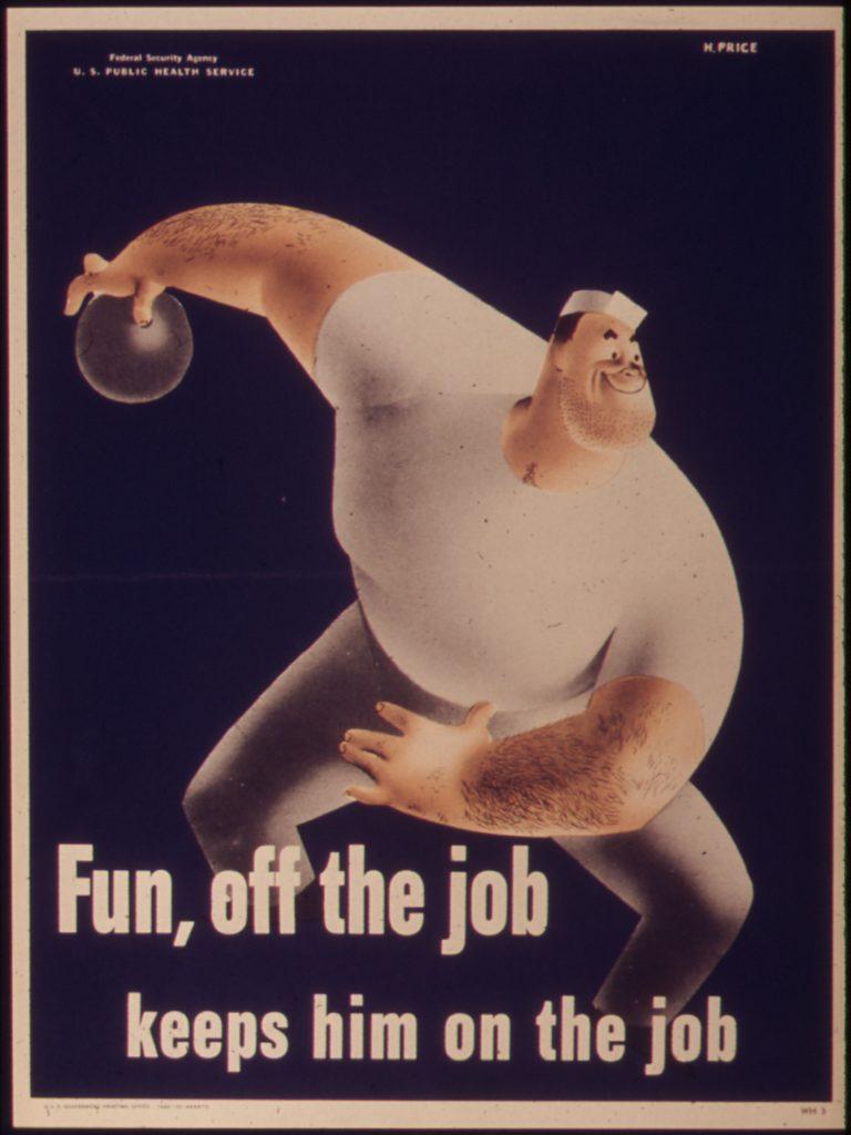 -Fun,_off_the_job_keeps_him_on_the_Job-_-_NARA_-_514789